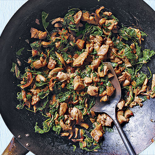 chicken watercress stir-fry