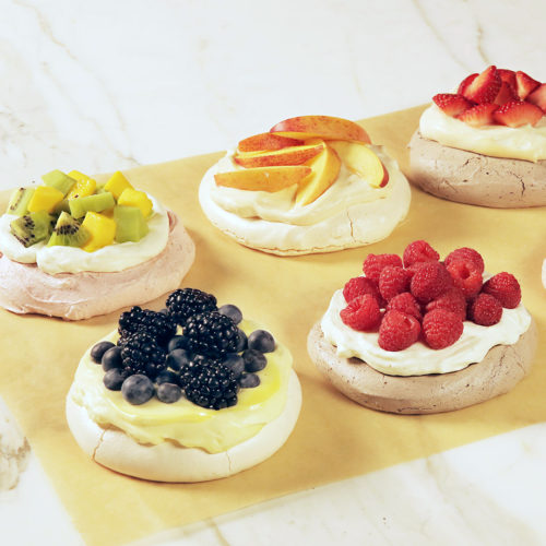 fruit-topped pavlova