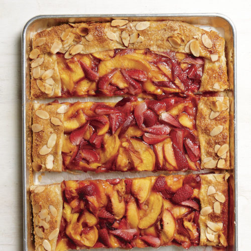 Nectarine-Strawberry Slab Pie