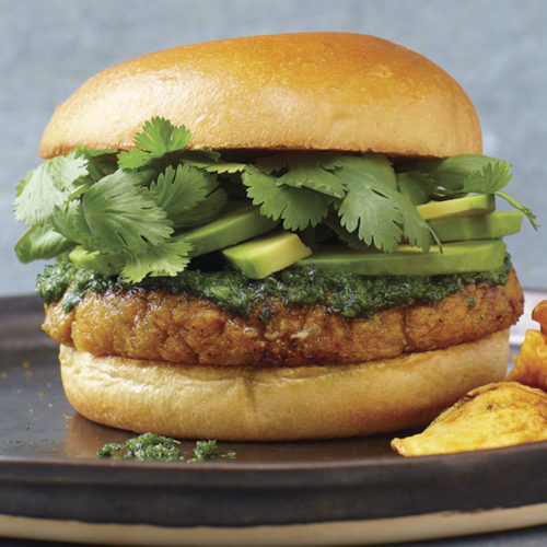 Tofu Sweet Potato Burger