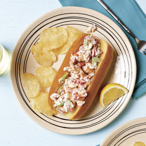 Lobster rolls with dill