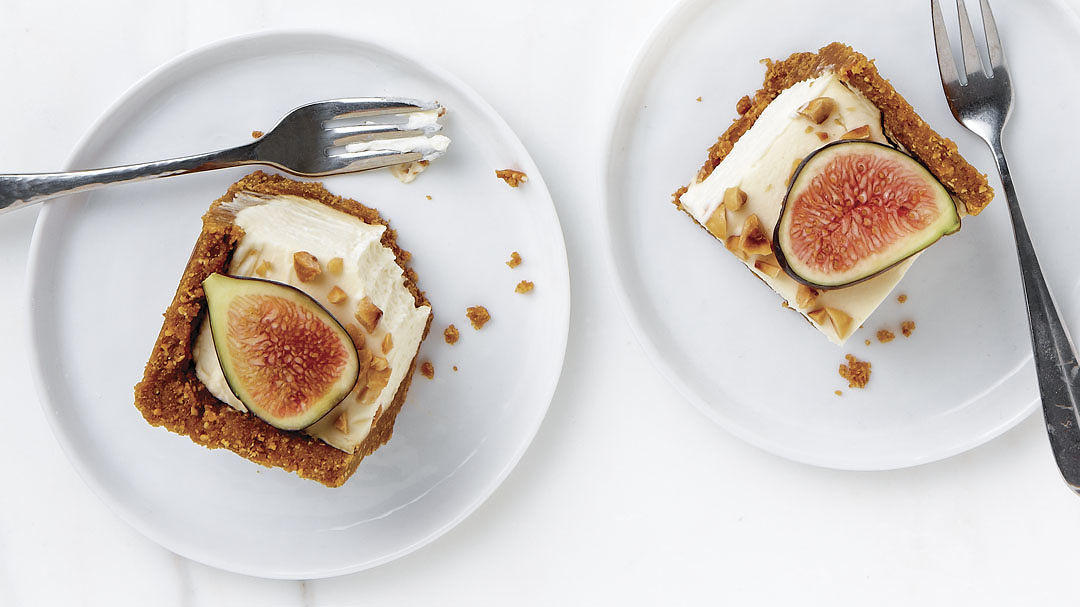Deep-Dish Mascarpone Fig Pie with Ginger-Hazelnut Crust