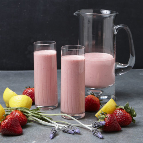 Lavender-Strawberry Smoothie