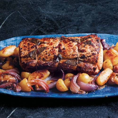 cider-glazed pork loin