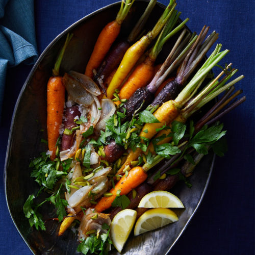 Honey-Glazed Rainbow Carrots