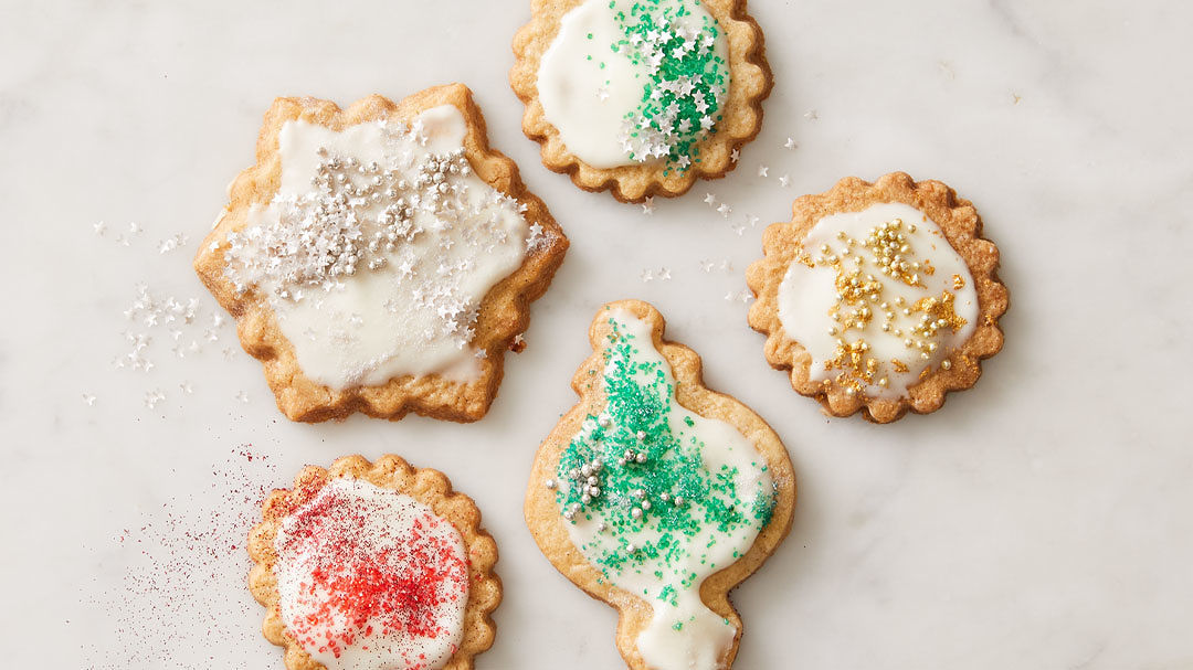 Gluten Free Vanilla Bean Cutout Cookies With Cream Cheese Glaze