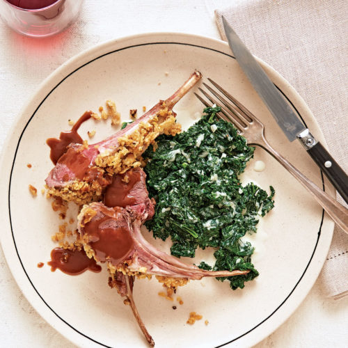 Potato-Chip-Crusted Rack of Lamb