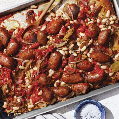 Sausages with Beans and Tomatoes