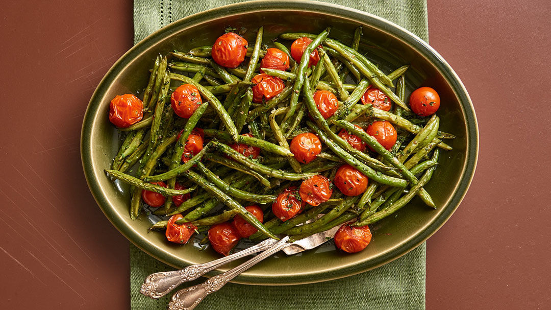 Blistered Green Beans and Cherry Tomatoes