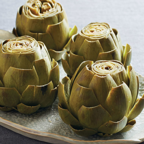 Steamed Artichokes with Orange Tarragon Dip