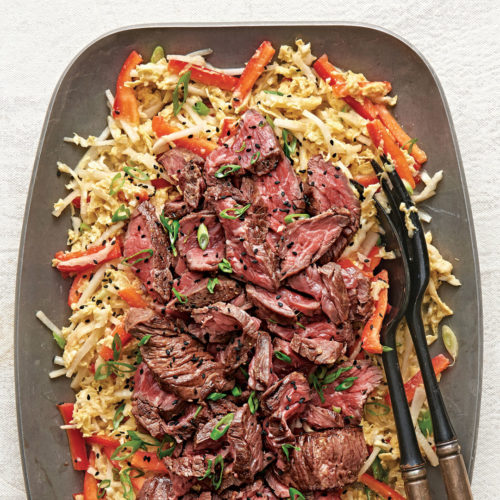 Steak and Napa Cabbage Salad