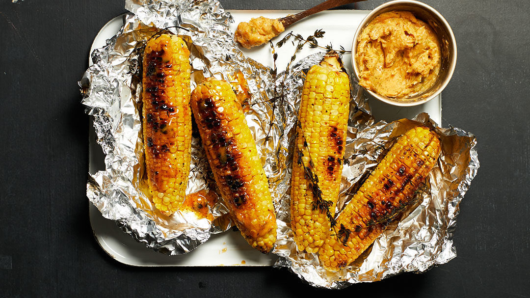 Grilled Corn on the Cob with Maple-Lime-Chile Butter