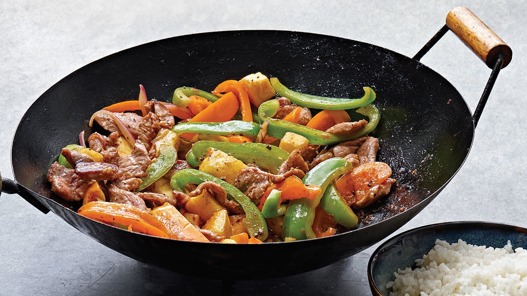 Sweet and Sour Pork with Fresh Pineapple