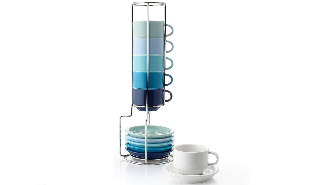 Sweese Stackable Espresso Cups and Saucers