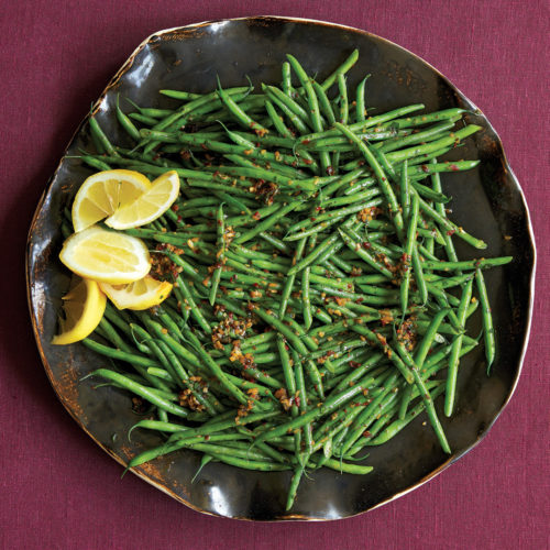 spicy smoky green beans