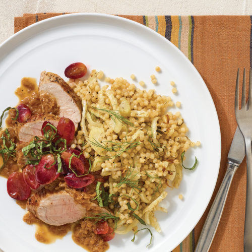 pork tenderloin with grapes