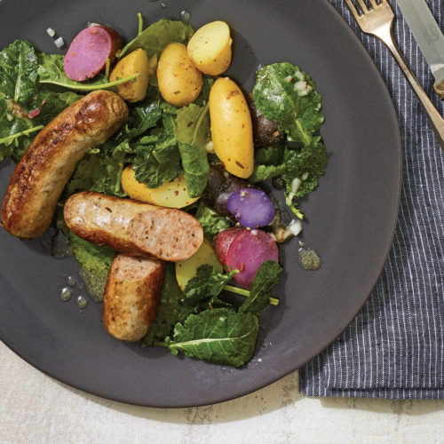 Sausage Potatoes Kale