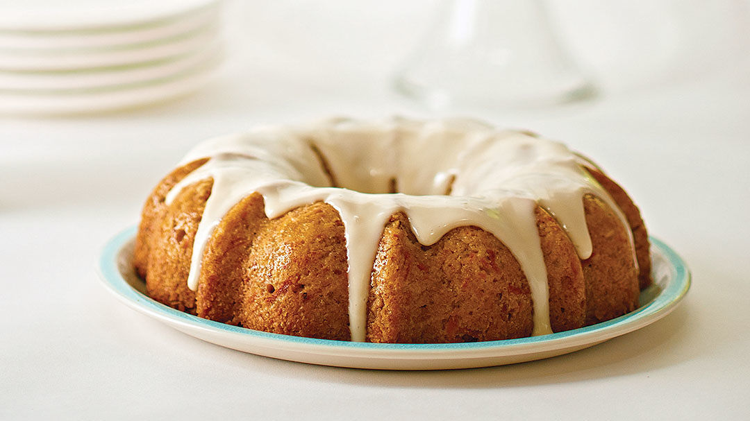Oatly Vegan Carrot Bundt Cake with Cream Cheese Glaze