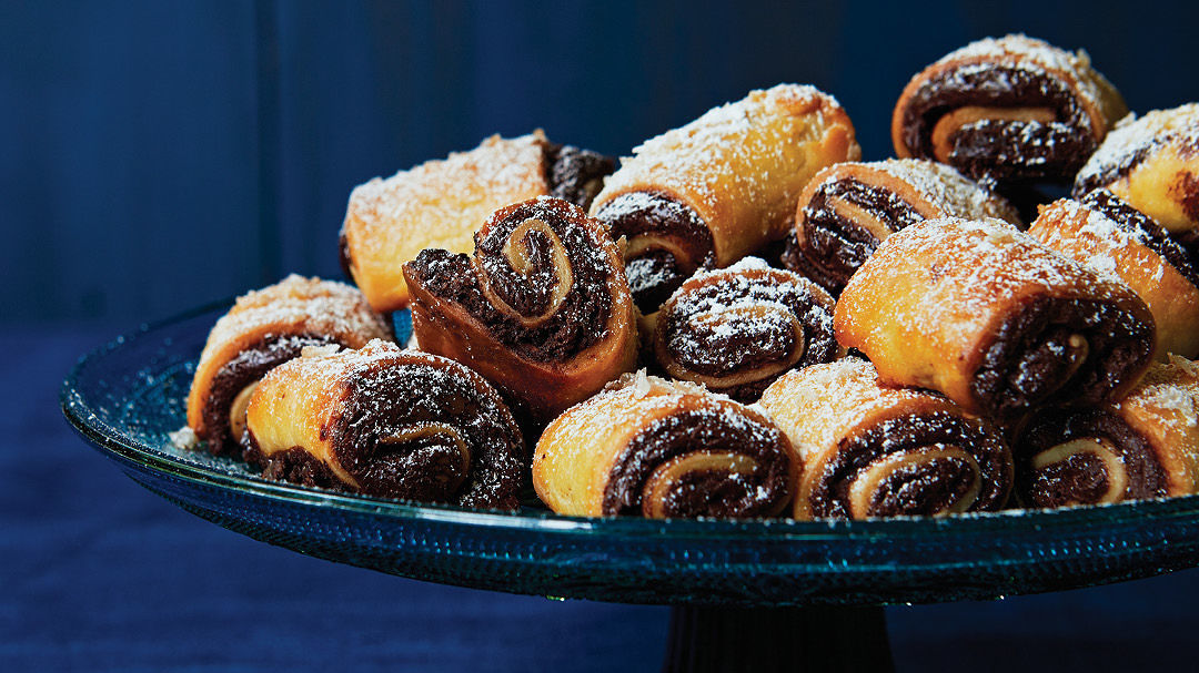 Salted Dark Chocolate Rugelach