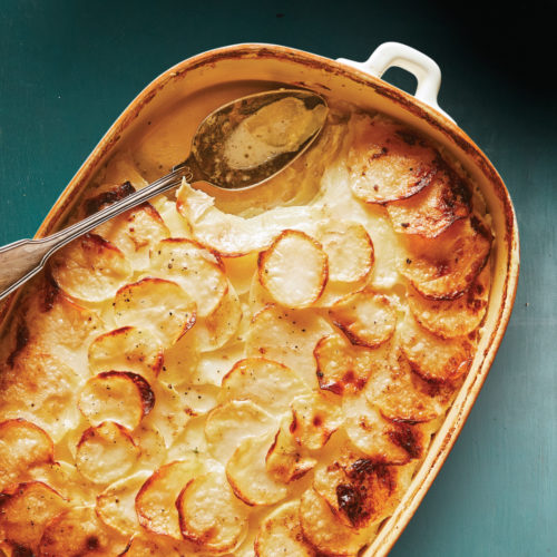 luxurious potato gratin