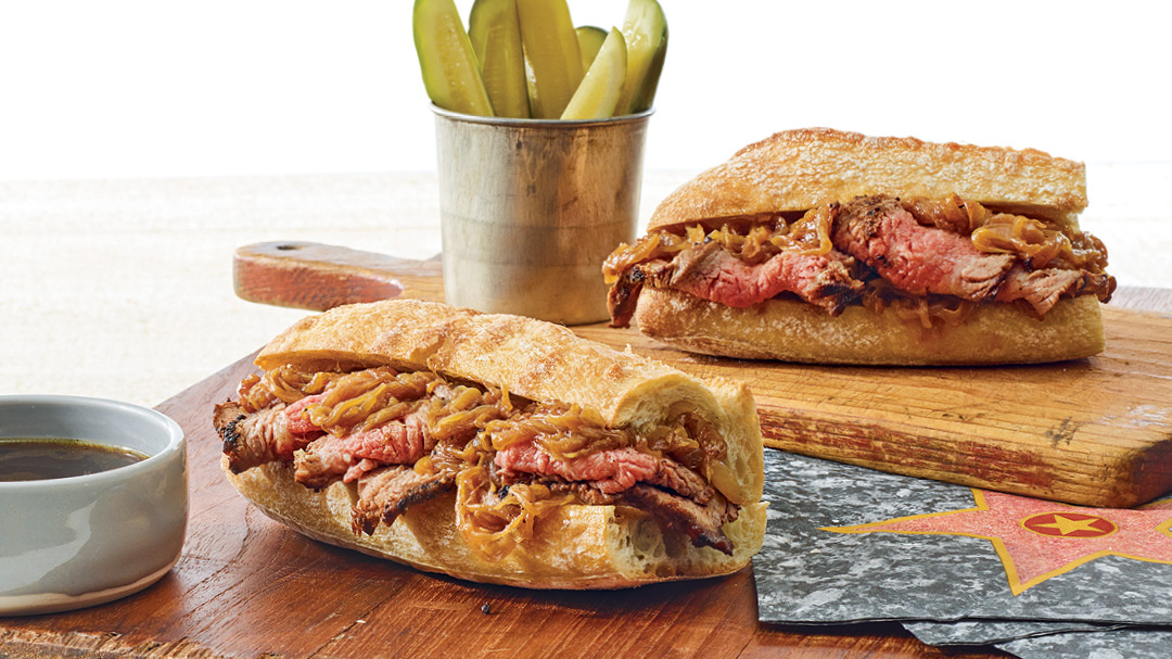 Barbecue Tri-Tip French Dip Sandwich