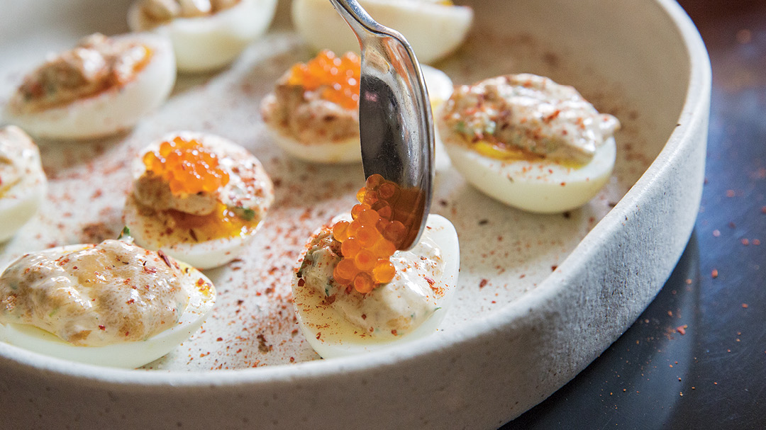 Soft-Boiled Eggs with Uni-Herb Mayo