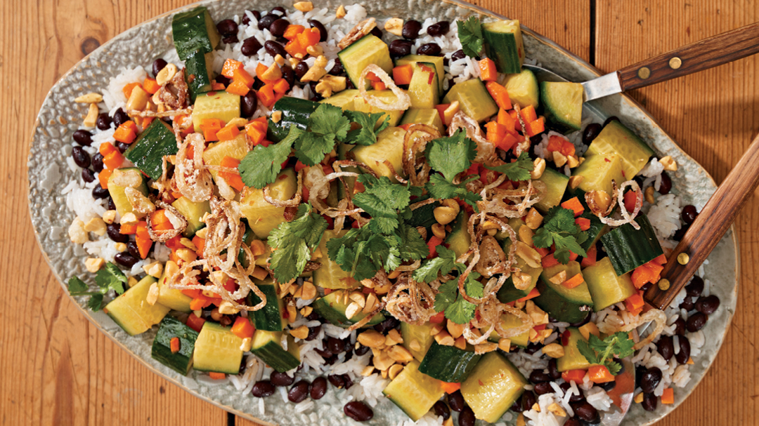 Spicy Cucumber and Black Bean Salad