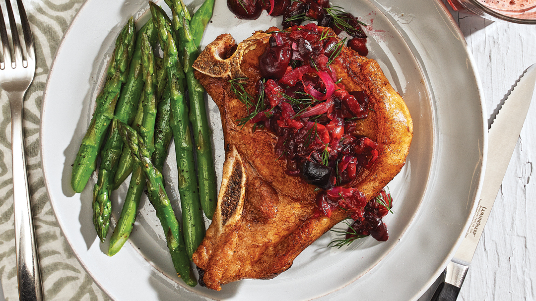 Pork Chops with Cherry Relish