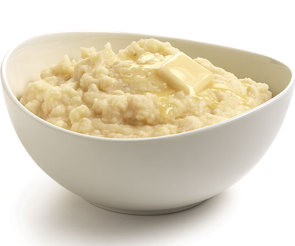 Garlic-Infused Mashed Potatoes and Celery Root