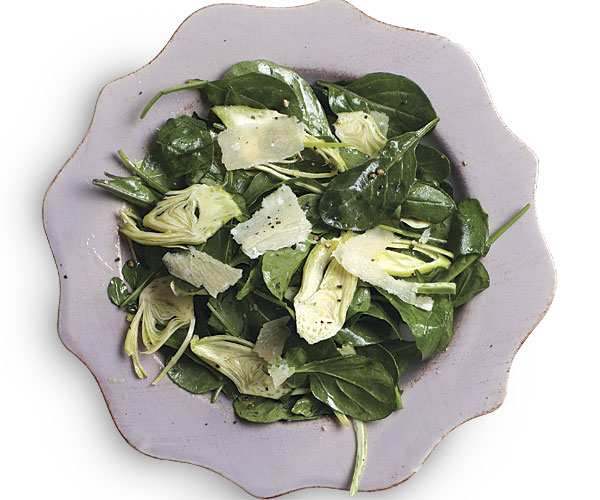 Shaved Baby Artichokes with Lemon, Arugula, and Parmigiano
