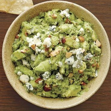 Blue Cheese-Smoked Almond Guacamole
