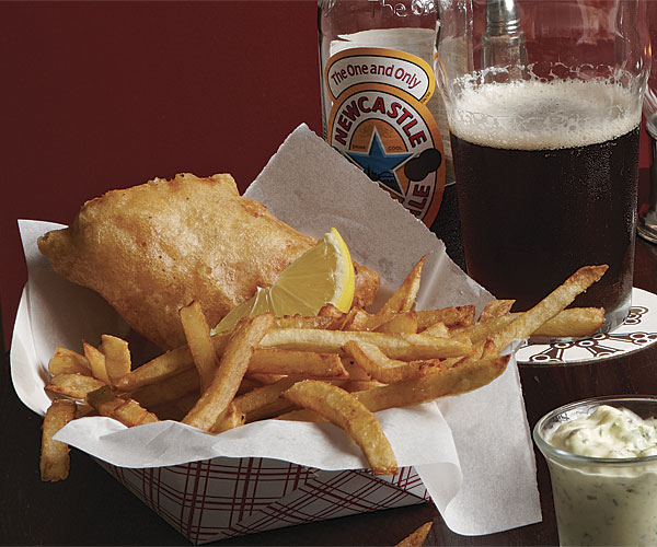 Fish and Chips with Tartar Sauce