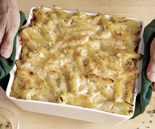 Baked Penne with Cauliflower and Cheese