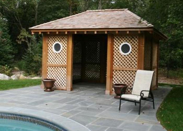 Cedar pool gazebo