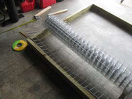rolling out hardware cloth