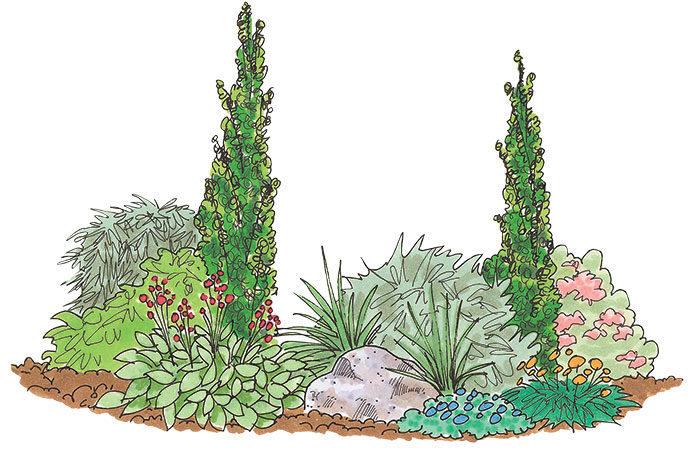 garden bed illustration