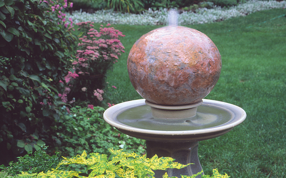 bubbling ball fountain