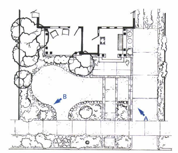 site plan c for a front yard garden makeover