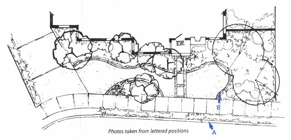 site plan d for a front yard garden makeover