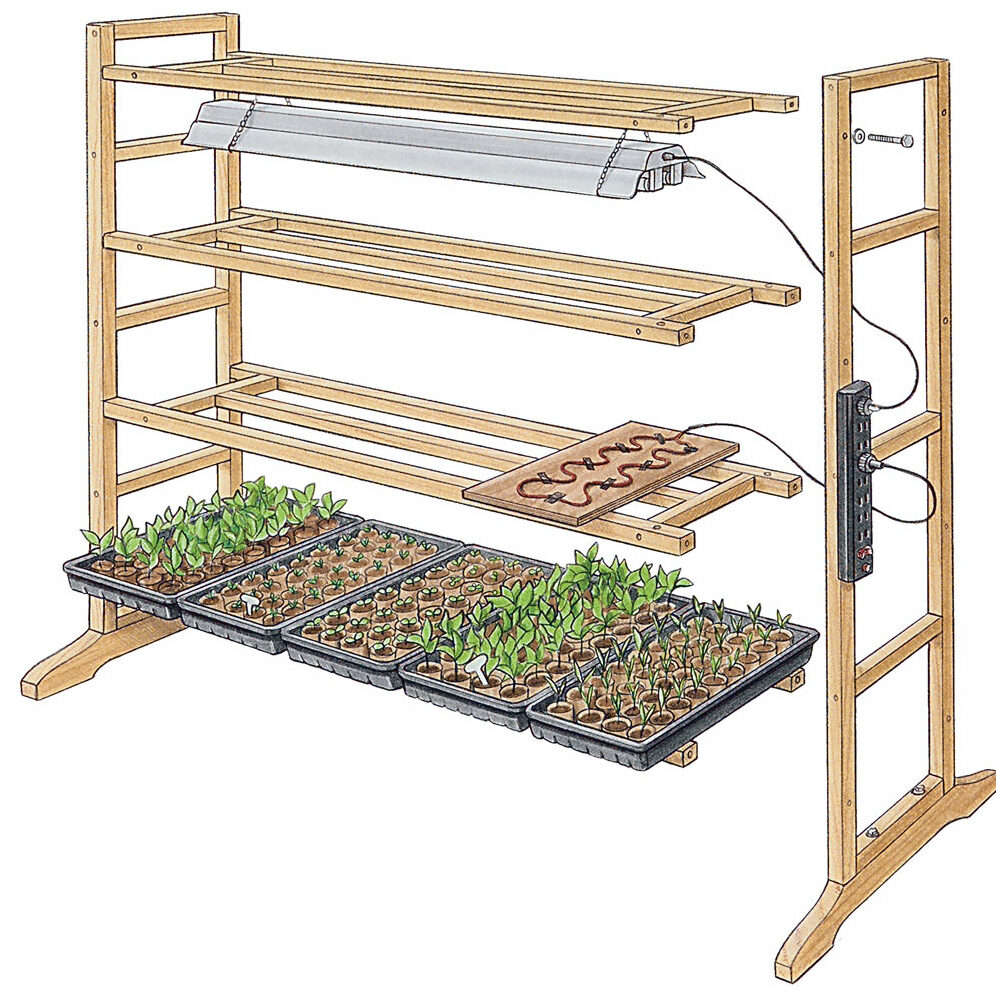 Tiered growing stand illustration