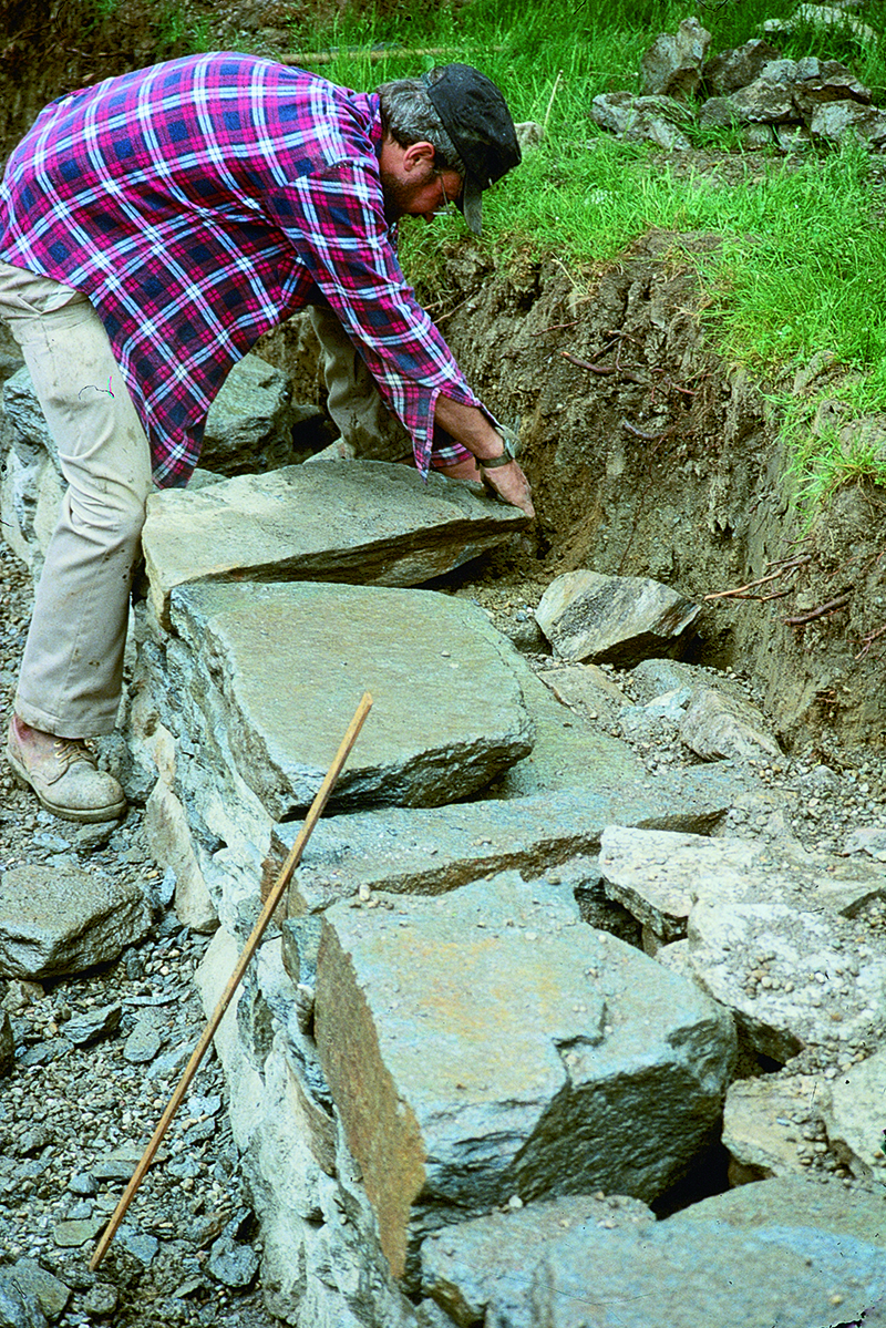 Build a dry stacked stone retaining wall finegardening - How to build a living wall ...