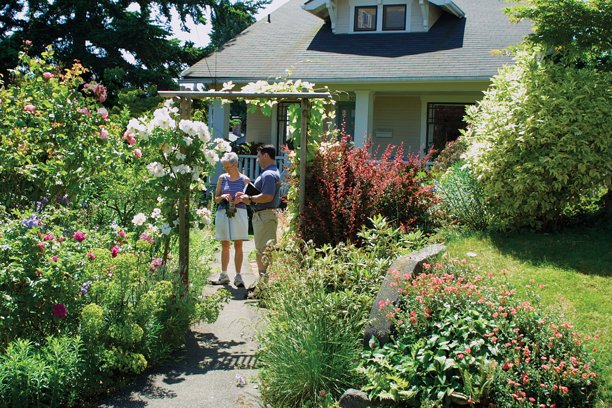 check with neighbors prior to garden landscaping