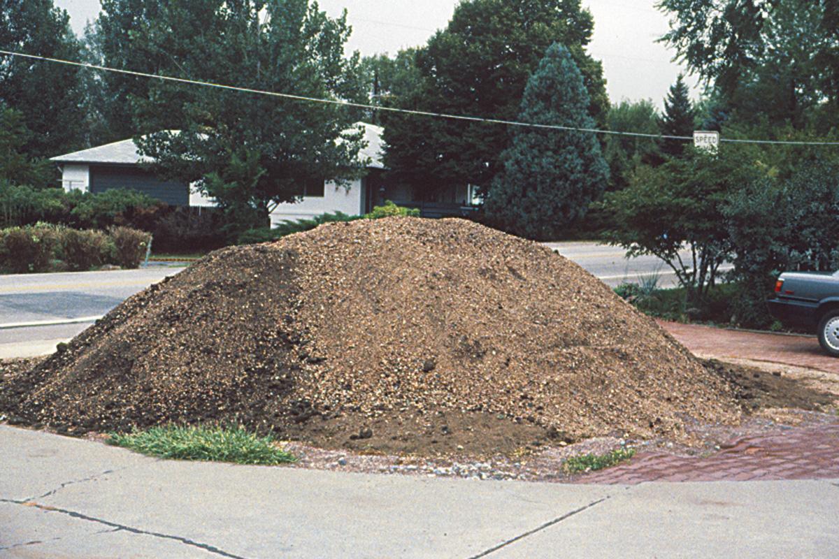 large pile of soil