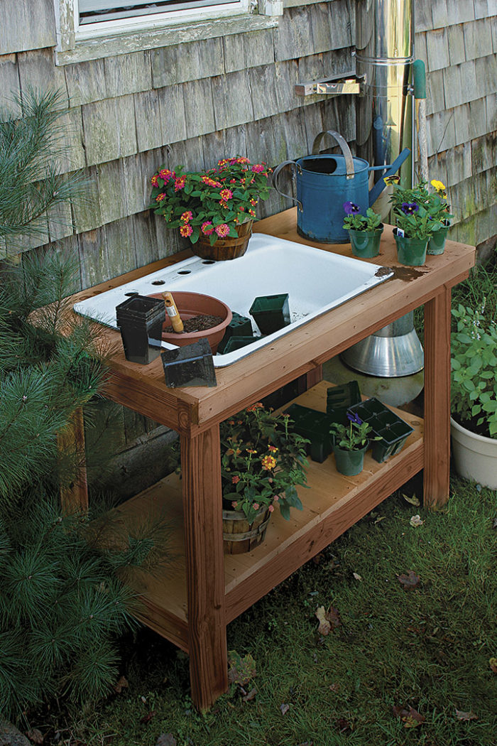 Stupendous A Potting Table With A Twist Finegardening Frankydiablos Diy Chair Ideas Frankydiabloscom