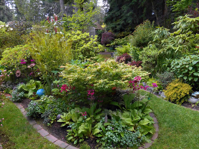 Linda Skyler Of Bainbridge Island In The Pacific Northwest, Enjoys The  Sunshine And A Garden Thriving From A Very Wet Spring.
