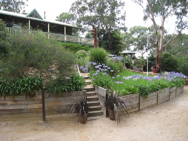 A Terraced Garden In Victoria, Australia