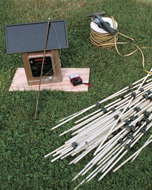 Electric Fence Design Deer proof electric fence finegardening materials and costs are modest installation of an electric fence workwithnaturefo