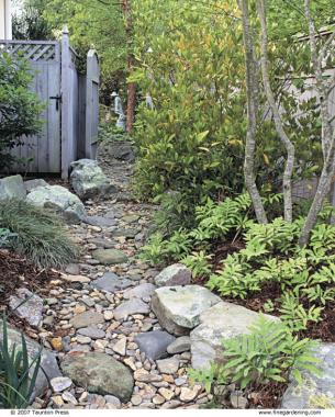 Dry Stream Does Double Duty - FineGardening
