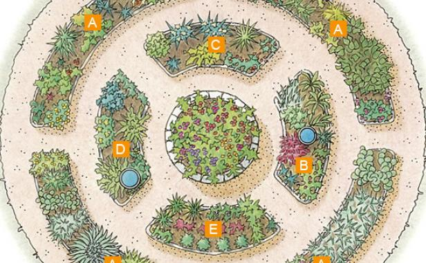 Organize Plantings By Themes. Photo/Illustration: Vincent Babak. This Design  Includes Herbs ...