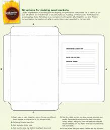 Make Your Own Seed Packets FineGardening - Seed packet template
